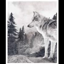 Lone Wolf Micro Mink Throw