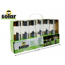 "Solar LED Light Stake - 9.75"" ~ 6 per pack"