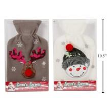 Christmas Fleece Printed Hot Water Bottle ~ 1L