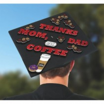 Grad Cap Decorating Kit ~ Thanks Mom, Dad & Coffee