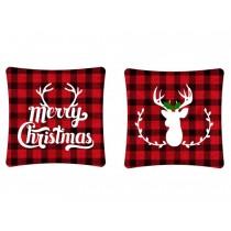 """Christmas Buffalo Plaid Cushion ~ 16"""" Square"""