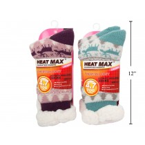 Ladies Heat Max Sherpa Lined Socks