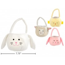 "Easter Animal Fabric Basket ~ 7.75"" x 6"""