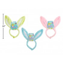 "Easter 11"" Plush Bunny Ears Headband"