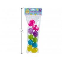 """Easter Fillable Eggs -  Polka Dot 2.5"""" ~ 10 per pack"""