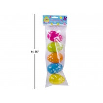 """Easter Fillable Eggs -  Polka Dot 3.5"""" ~ 5 per pack"""
