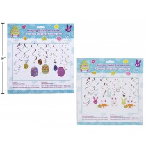 Easter Swirl Hanging Decorations ~ 12 pieces per pack
