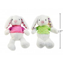 """Easter 9"""" Soft White Bunny with Sweater"""