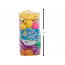 Easter Fillable Egg - Assorted Colors + 2 Gold Eggs ~ 40 per bag
