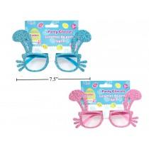 Easter Bunny Ears Glitter Glasses