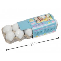"Easter White Decorate your own Eggs in Egg Carton - 2.25"" ~ 12 per pack"