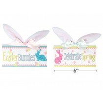 Easter MDF Tabletop Decor with Bunny Ears & Bow
