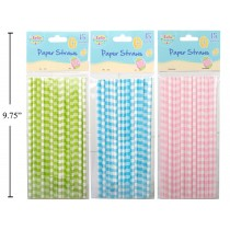 Easter Pastel Paper Straws ~ 15 per pack