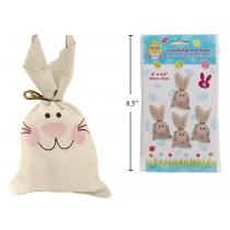 """Easter Faux Burlap Treat Sacks - 4"""" x 8"""" ~ 4 per pack"""