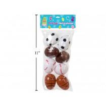 """Easter Fillable Egg - Sport Ball 2.5"""" ~ 8 per pack"""