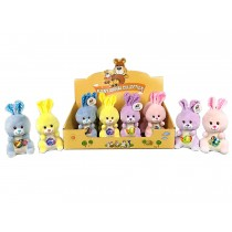 """Easter 5.5"""" Plush Bunny ~ 4 assorted colors"""
