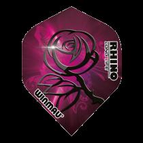 Rhino Flights ~ Pink w/Black Rose