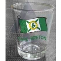 Cape Breton Wavy Flag Shot Glass