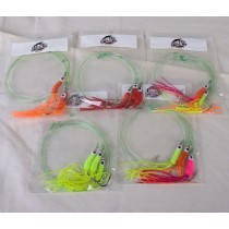 Mr Fly Groundfish Squid Rigs ~ 3 per string