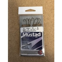 Mustad Snelled Minnow Hooks ~ 6 per pack