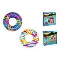 "42"" Geometeric Patterns Inflatable Swim Ring"