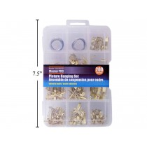 Picture Hanging Assortment Kit ~ 200 pieces