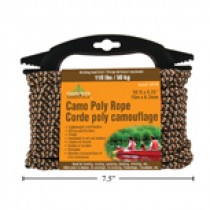"Camo Poly Rope ~ 0.25"" x 50' / 6.3mm x 15m"