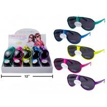 Excel Vision Kid's Neon Aviator Sunglasses w/Case