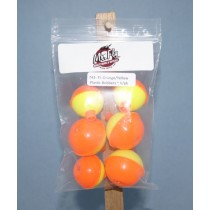 Mr Fly Assorted Fl. Orange & Yellow Plastic Floats ~ 6 per pack