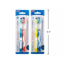 Bodico Toothbrush with Tongue Cleaner ~ 2 per pack