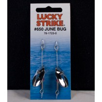 Lucky Strike Baby June Bug Spinner - Nickel