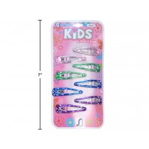 Kid's Snap Barrettes - Heart Print ~ 8 per pack