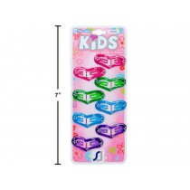 Kid's Snap Barrettes - Heart Shaped ~ 8 per pack