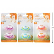 Tootsie Baby Silicone Pacifiers ~ 2 per pack