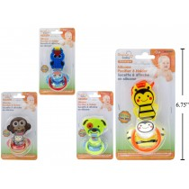 Silicone Pacifier w/Holder Set ~ 4 assorted