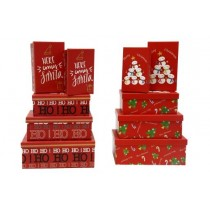 Christmas Rectangular Gift Boxes ~ 5 per pack