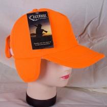 Fl. Orange Ball Cap w/Ear Flaps