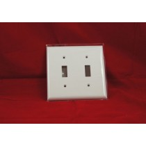 Toggle Switch Cover - Double ~ White