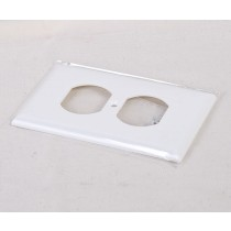 Duplex Outlet Cover ~ White