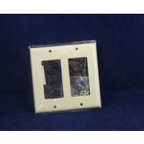 Decorative Double Switch/Outlet Cover ~ Ivory