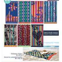 Oversized Single & Double Jacquard Beach Towels ~ 7 assorted