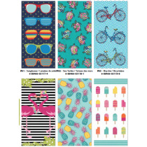 Summer Fun Velour Beach Towels ~ 6 assorted
