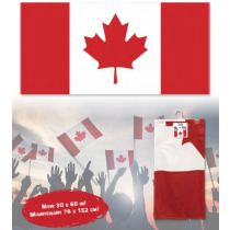 Canada Flag Velour Beach Towel
