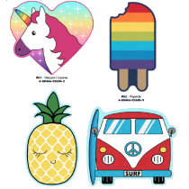 Fun Shaped Beach Towels ~ 4 assorted