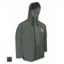 Jackfied PVC Green Rain Jacket {Oil Gear} ~ Size Small Only