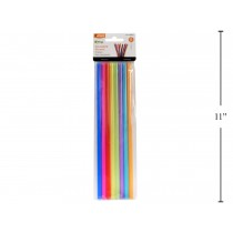Luciano Plastic Reusable Straws (7mm) ~ 8 per pack