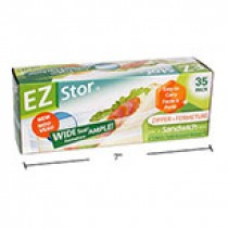 "EZ Stor Zipper Seal Storage Bags - 6-1/2"" x 6"" ~ 35 per box"