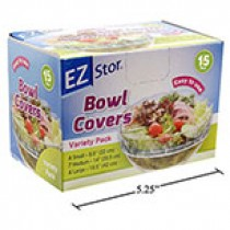 EZ Stor Bowl Covers - 4 Small, 7 Medium, 4 Large ~ 15 per box