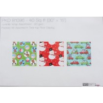 "Christmas Single Roll Wrapping Paper ~ 30"" x 192"""