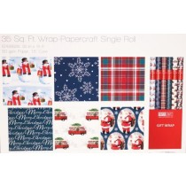 "Christmas Single Roll Wrapping Paper ~ 30"" x 168"""